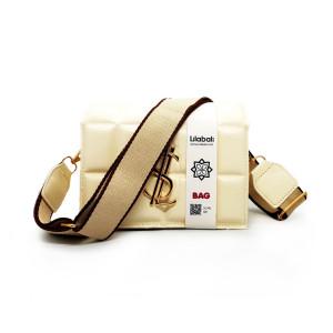 Cream Wide Shoulder Strap Bag