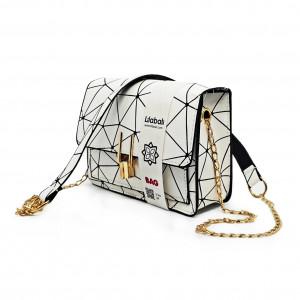 White Pattern Cross body Bag
