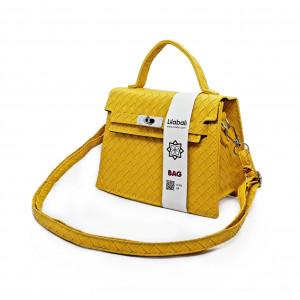 Yellow Pattern Casual Lock...