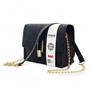 Black Pattern Cross body Bag
