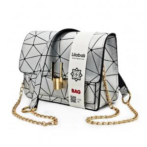 Silver Pattern Cross body Bag