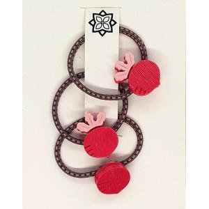 Red - 3 X Turnip hairband