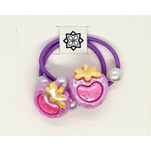 Violet - 2 X Heart Shape...