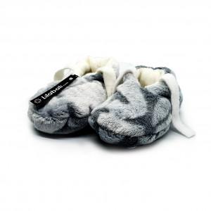 Winter Plush Shoe Silver