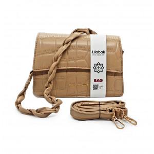 Beige diagonal Ladies handbag