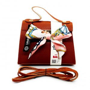 Satin Bow Decore PU Leather...