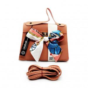 Peach Handbag With Satin...