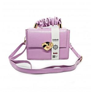Purple Flap Handbag...