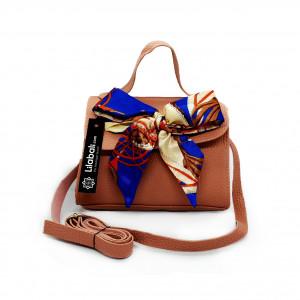 Satin Bow Decor PU Leather...