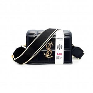 Black Wide Shoulder Strap Bag