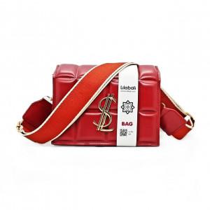 Red Wide Shoulder Strap Bag